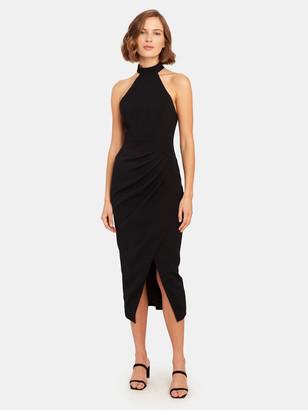 C/Meo Caliber Halter Midi Dress