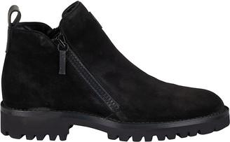 Giuseppe Zanotti Velour Ankle Boots