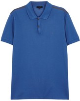 Lanvin Blue Piqué Cotton Polo Shirt