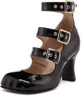 Vivienne Westwood Animal Toe 3 Strap Black Patent Size 37
