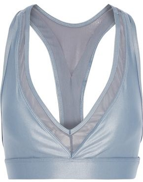 Koral Zaz Infinity Mesh-trimmed Metallic Stretch Sports Bra