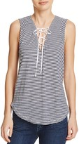 Splendid Stripe Lace-Up Tank