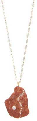 Cvc Stones Ignite Diamond & 18kt Gold Necklace - Brown