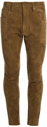 DSQUARED2 Straight Leg Boot-Cut Suede Pants