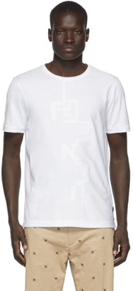 Fendi White Destruction T-Shirt