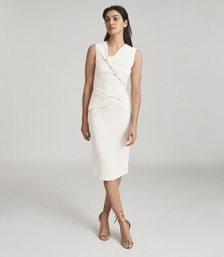 Reiss Alex - Ruched Bodycon Dress in White