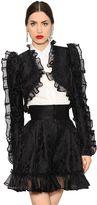 Dolce & Gabbana Floral Brocade & Organza Bolero Jacket