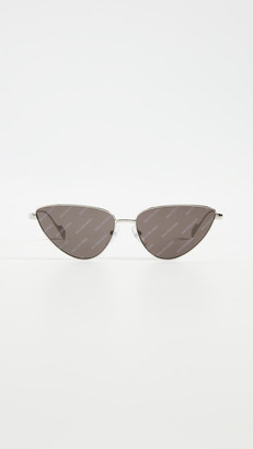 Balenciaga Ghost Extreme Metal Cat Eye Sunglasses