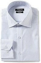 Kenneth Cole New York Non-Iron Regular Full-Fit Spread Collar Striped Dress Shirt