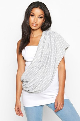 boohoo Maternity Stripe Nursing Shawl