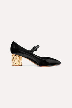Salvatore Ferragamo Ortensia Patent-leather Mary Jane Pumps - Black