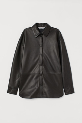 H&M Leather shirt