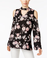 NY Collection Off-The-Shoulder Floral-Print Top