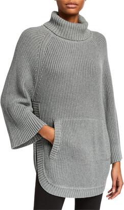 UGG Raelynn 3/4-Sleeve Knit Poncho Sweater