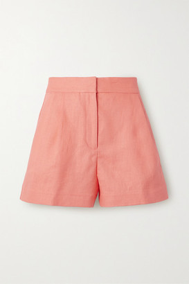 MICHAEL Michael Kors Pleated Linen Shorts - Orange