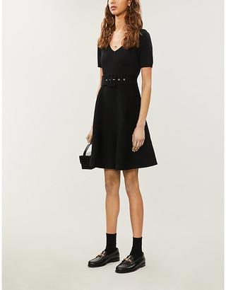 Claudie Pierlot Moncoeure V-neck stretch-knit mini dress