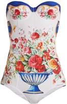 Dolce & Gabbana Majolica-print balconette swimsuit