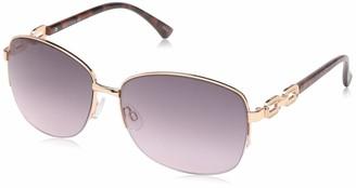 Rocawear Women's R3291 Rgdan Non-Polarized Iridium Round Sunglasses