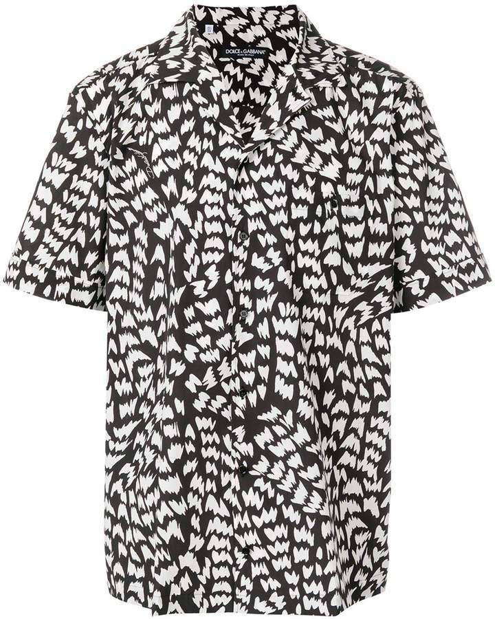 Dolce & Gabbana Memphis print bowling shirt