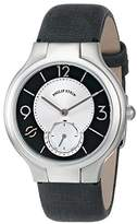 Philip Stein Teslar Women's 41-MBW-CMB Stainless Steel Watch with Metallic Black Leather Band