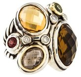 David Yurman Two-Tone Multistone Mosaic Ring