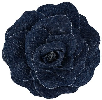 Philosophy di Lorenzo Serafini Denim Flower Brooch