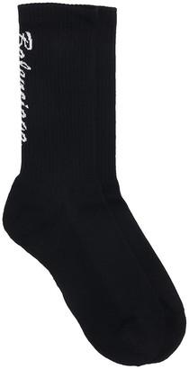 Balenciaga Socks In Black Cotton
