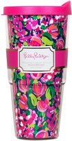 Lilly Pulitzer Double Walled Tumbler, Wild Confetti