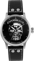 Jacques Lemans EXPENDABLES E-221 49mm Stainless Steel Case Black Calfskin Mineral Men's & Women's Watch