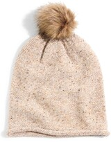 Madewell Faux Fur Pompom Beanie