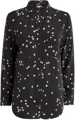 Equipment Silk Starry Night Printed Shirt