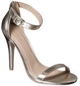 Xhilaration Women's Susy Strappy Heel - Gold