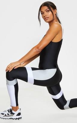 ASA Trad Black Mono Panel Gym Leggings