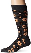 Happy Socks Men's 1Pk Combed Cotton Flower Crew Sock