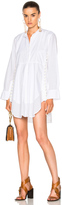 Chloé Light Cotton Voile Button Detail Shirt Dress
