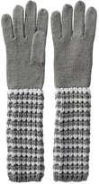 Joe Fresh Women's Extra Long Knit Gloves, Black (Size O/S)
