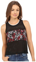 Converse Mesh Print Swing Crop Tank Top