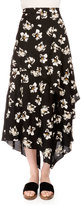 Proenza Schouler Floral-Print Asymmetric Midi Skirt