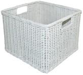 Pillowfort Rattan Milk Crate Large White