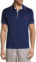USPA U.S. Polo Assn. Embroidered Short Sleeve Solid Polo Shirt