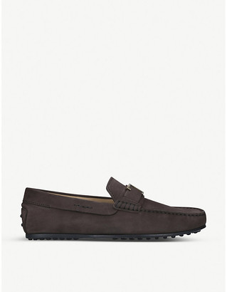 Tod's City nubuck leather driving shoes