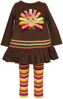 Bonnie Jean 2-pc. Brown Turkey Top and Leggings Set - Baby Girls 3m-24m
