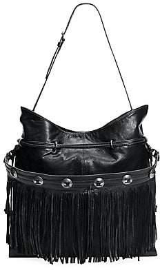 Frye Women's Small Sacha Fringe Leather Hobo Bag