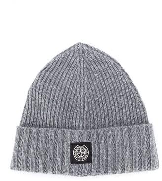 Stone Island Junior Ribbed Knit Beanie Hat