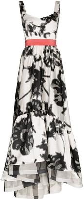 Silvia Tcherassi Elvira floral print prom dress