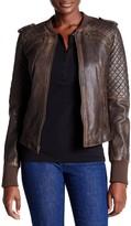 Levi's Genuine Leather Knit Panel Jacket