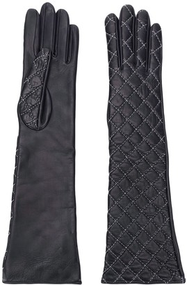 Manokhi Diamond Stitched Gloves