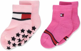 Tommy Hilfiger Baby Girls' Th Sock 2p Flag Calf