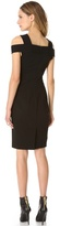 Donna Karan Off Shoulder Pieced Dress