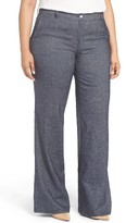 Plus Size Women's Persona By Marina Rinaldi Regale Stretch Denim Wide Leg Pants